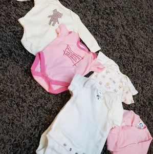 Little girl's bundle of onesies 0-3 months